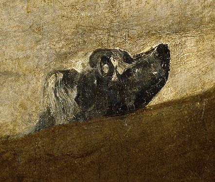 Perro semihunidad. Francisco de Goya. Wikimedia Commons.