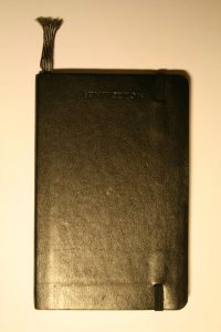 Libreta Moleskine. Por Pava. CC BY-SA 3.0. Wikimedia Commons.