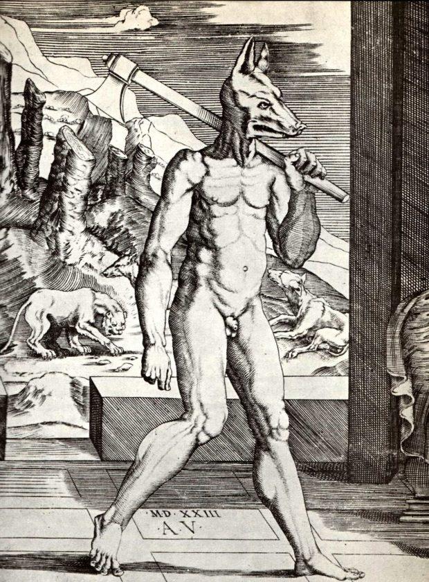 Rey Licaon. Grabado anónimo del siglo XVI. Wikimedia Commons.