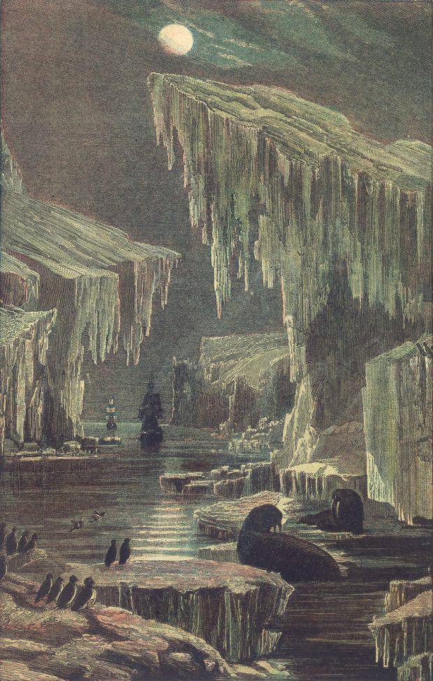 Erebus y Terror. Francis Watt. Wikimedia Commons.