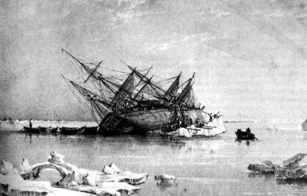 HMS Terror. George Black. Wikimedia Commons.