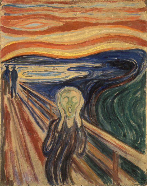 Edvard Munch. El Grito. Wikimedia Commons.