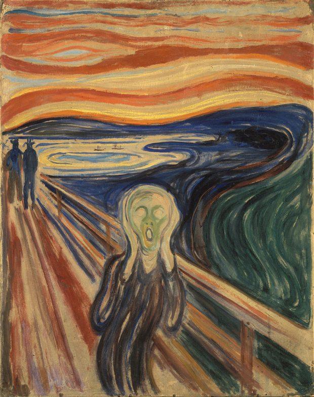 El Grito de Edvard Munch. Wikimedia Commons.
