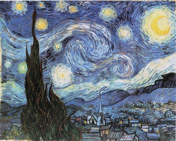 La noche estrellada. Vincent van Gogh. Wikimedia Commons.