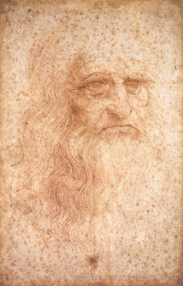 Autorretrato. Leonardo Da Vinci. Wikimedia Commons.