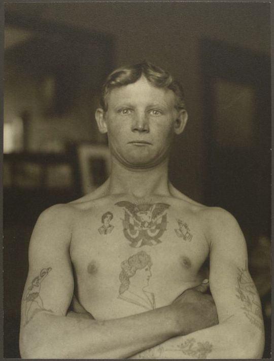 Polizón alemán. Augustus Sherman. New York Public Library.