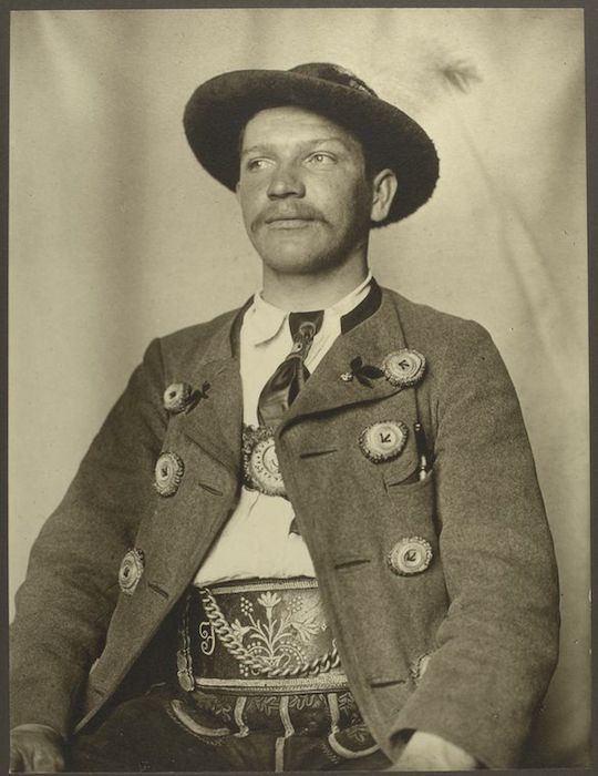 Hombre bávaro. Augustus Sherman. New York Public Library.
