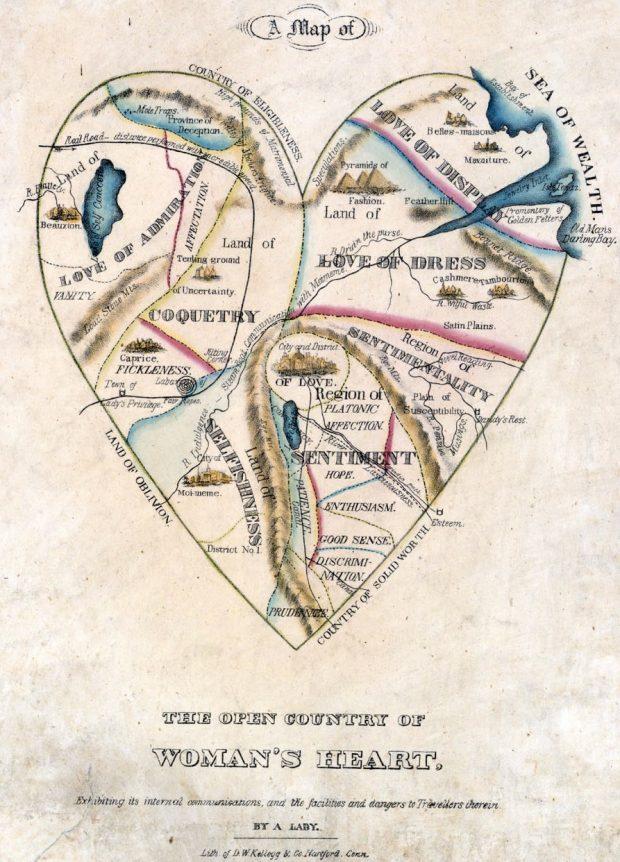 Un mapa de las mujeres. Anónimo (Una Mujer). 1830.