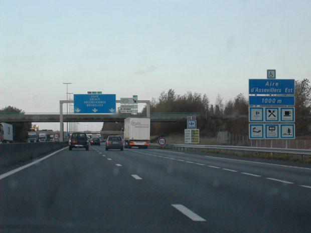Autopista francesa. Wikimedia Commons.