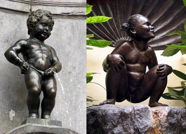 ¿Sabías que, además del Manneken Pis, en Bruselas está la Jeanneke Pis (niña orinando)?
