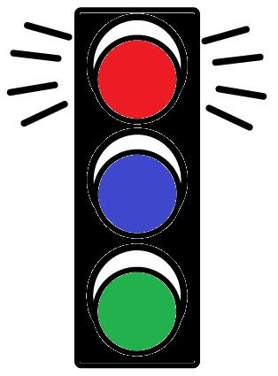 Los colores en los semáforos…. ¿Por qué no está el color azul?