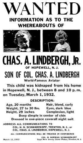 Secuestro hijo Charles Lindbergh