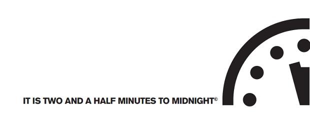 'reloj del Juicio Final' (Doomsday Clock) en 2017
