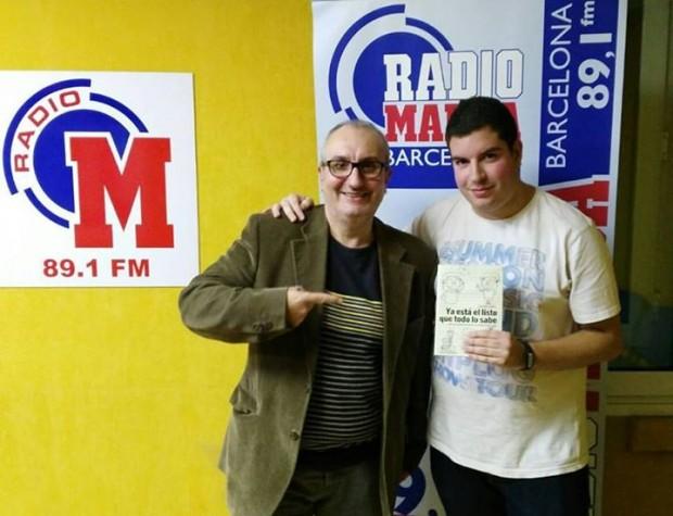 Alfred López y Jordi Moreno, técnico de Radio Marca Barcelona