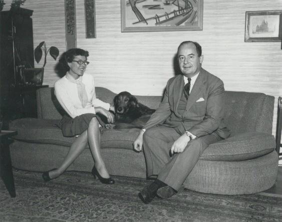 John von Neumann junto a su esposa Clara