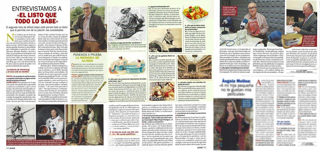 Entrevista a 'el listo que todo lo sabe' en la revista Pronto