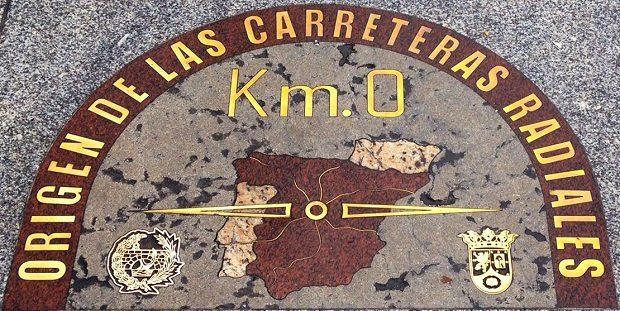 D nde est el kil metro cero en otras capitales del for Kilometro 0 puerta del sol