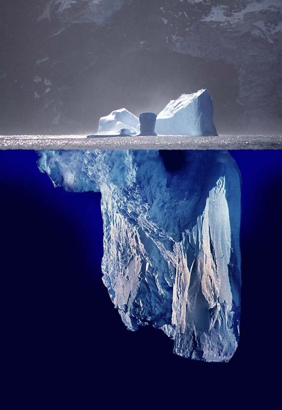 ¿Por qué decimos que algo es solo 'la punta del iceberg'?