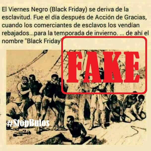 No, el 'Black Friday' no se originó por la venta de esclavos negros