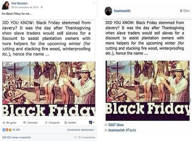 Destripando bulos: No, el 'Black Friday' no se originó por la venta de esclavos negros