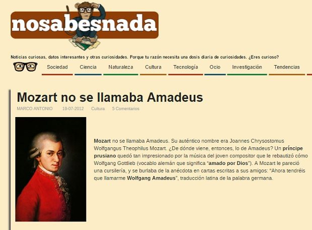 Captura bulo viral 'Mozart no se llamaba Amadeus'