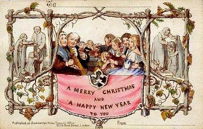 El origen de las tarjetas navideñas