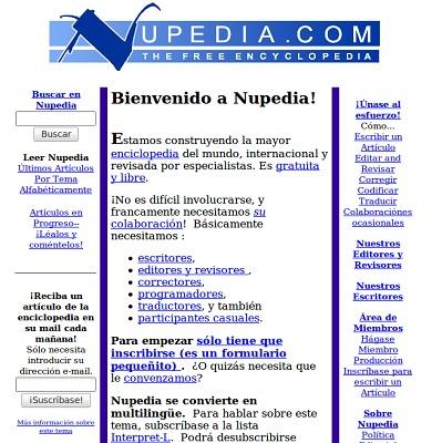 ¿De dónde sacó el nombre la Wikipedia? (Nupedia)