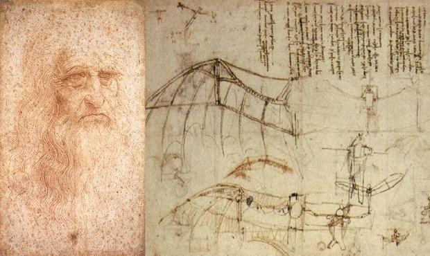 Leonardo Da Vinci y sus curiosas máquinas voladoras