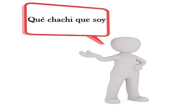 ¿Cuál es el origen del término 'chachi'?