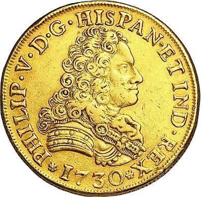 El curioso e histórico origen de llamar 'peluco' a un reloj - Moneda pelucona de 8 Escudos de Felipe V
