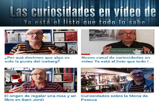 Nuevo canal en Youtube con las curiosidades de Alfred López (Ya está el listo que todo lo sabe)