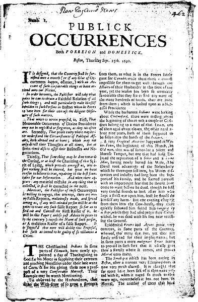 La curiosa y corta vida del primer periódico publicado en Norteamérica