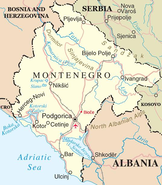 Montenegro y el curioso origen de su topónimo (que no proviene del castellano)