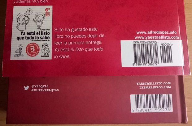 Diferente ISBN ediciones del libro 'Vuelve el listo que todo lo sabe'