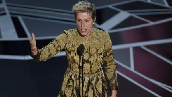 ¿Qué es la 'cláusula de inclusión' (inclusion rider) que demando la actriz Frances McDormand en la gala de los Premios Óscar?
