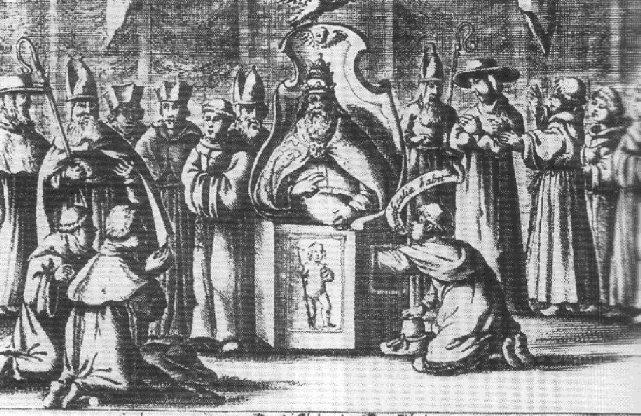La antigua práctica de comprobar si el nuevo papa escogido era hombre palpándole los testículos