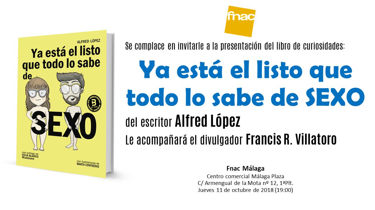 Invitación presentación Fnac Málaga