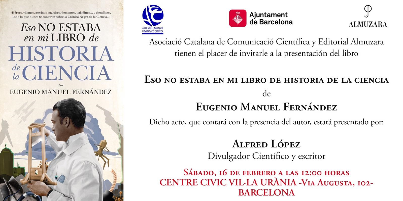 Reseña del libro: 'Eso no estaba en mi libro de Historia de la Ciencia' de Eugenio Manuel Fernández