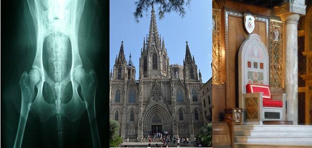 Cadera, catedrático y catedral, tres palabras con un mismo origen etimológico: 'una silla'