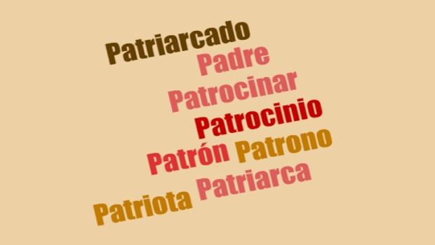 Patriota, patrón, patriarcado y patrocinio; palabras con un mismo origen etimológico: el padre