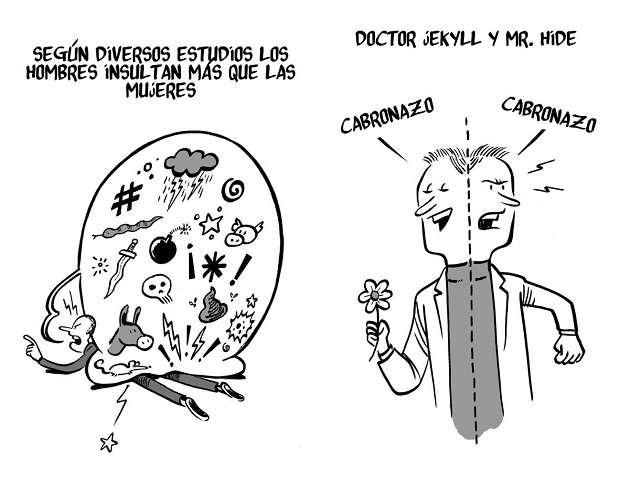 'Mecagüen' (palabrotas, insultos y blasfemias) de Sergio Parra (ilustración Malagón)