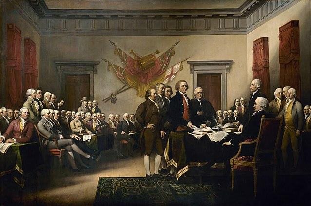 Firma de la Declaración de Independencia los Estados Unidos de 1776