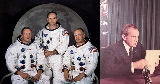 ¿Sabías que Nixon tenía preparado un discurso para pronunciar en caso de catástrofe en la llegada a la Luna?