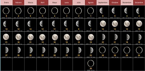 ¿Cuáles son las diferentes fases de la Luna?