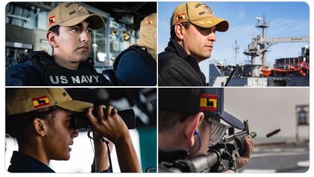 El curioso detalle de algunos militares estadounidenses que portan en sus gorras el toro de Osborne sobre la bandera de España