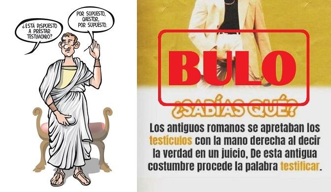 El origen de la palabra 'testificar' y el bulo sobre los romanos y sus testículos