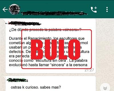 Destripando bulos: La palabra 'sincera' y la falsa etimología que circula por la red