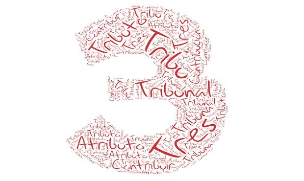 'Tribu', 'tribunal', 'atributo' y otros términos que provienen etimológicamente del 'tres'