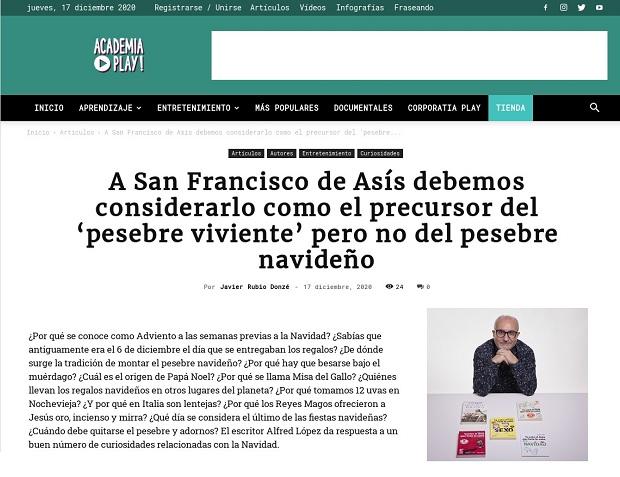 Entrevista a Alfred López en Academia Play