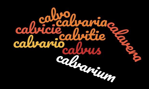 Calvicie, calvario y calavera, tres términos con un mismo origen etimológico